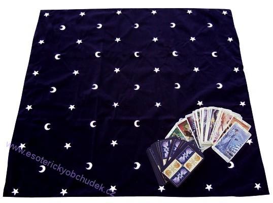 Vykladací ubrus - Měsíc s hvězdami