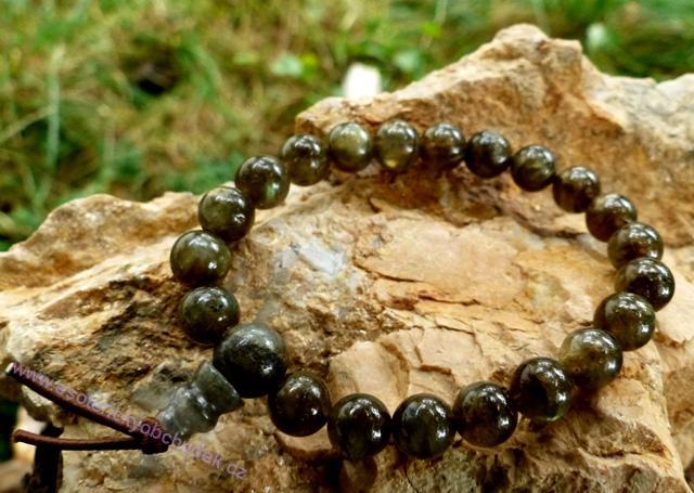 Náramek - LABRADORIT - energetický (Buddhův) náramek