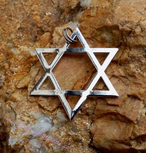 Davidova hvězda (hexagram) - Léčebný symbol - rhodiovaný