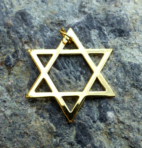 Davidova hvězda (hexagram) - Léčebný symbol - pozlacený