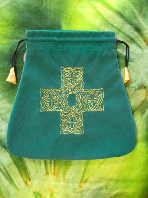 Sáček na karty - Keltský uzlový kříž