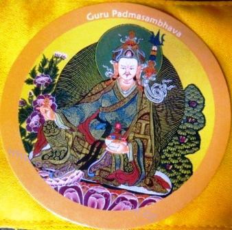 Samolepka - Mistr zrozený z lotosu /mistr Padmasambhava / Guru Rimpočhe