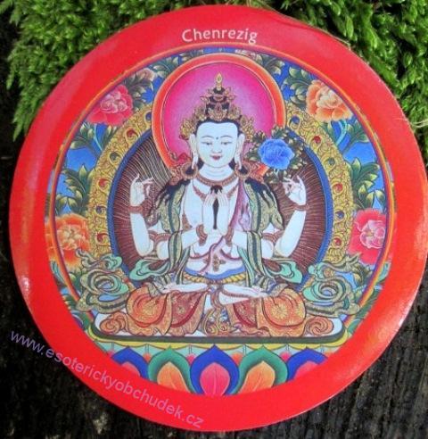 Samolepka - Milující oči / tib.Chenrezig / sansk.Avalokitešvara