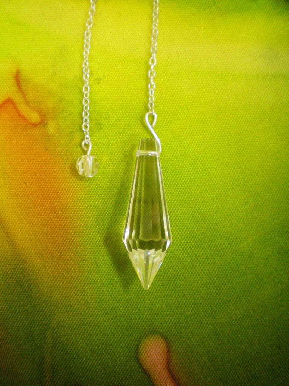 Siderické kyvadlo - Briliant - čiré křšťálové sklo