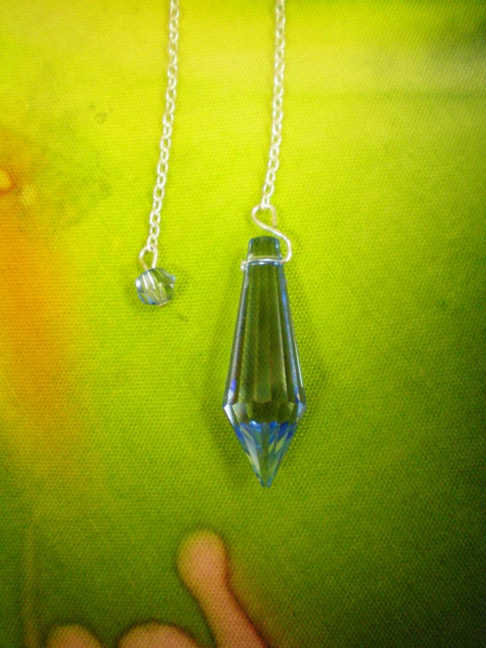 Siderické kyvadlo - 6 Briliant - tm.modré křšťálové sklo