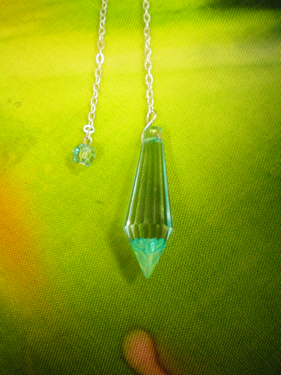 Siderické kyvadlo - 5 Briliant - sv.modré křšťálové sklo