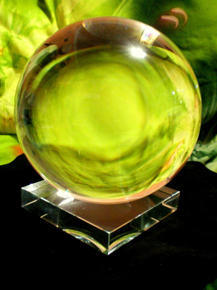 VĚŠTECKÁ KOULE 15 cm + skleněný stojánek + návod