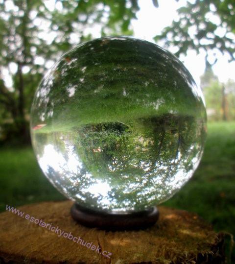 VĚŠTECKÁ KOULE 10 cm + dřevěný stojánek (kroužek) + návod
