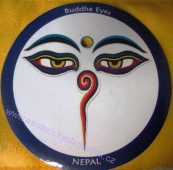 Samolepka - Milující oči - symbol soucitu (modré provedení)