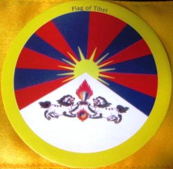 Samolepka - tibetská vlajka