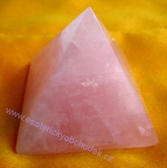 Pyramida - růženín 4cm
