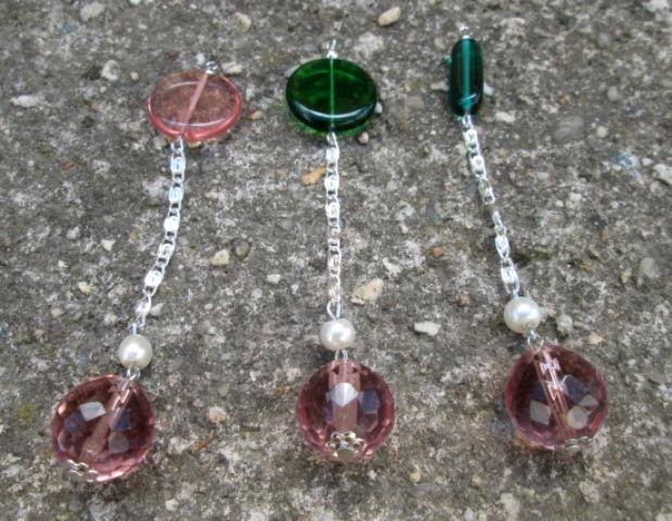 SRT kyvadlo - z broušeného skla - růžové - malé