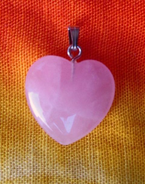 Přívěsek srdce - růženín