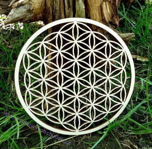 29cc1d5f2 Květ života - dřevěný symbol (topol) 10 cm | Esoterický obchůdek Radost