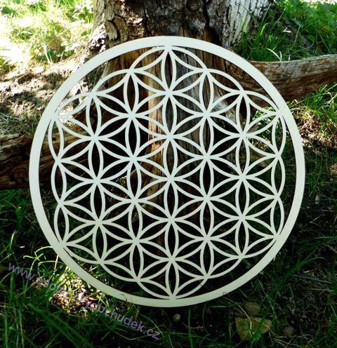 c7ce88d18 Květ života - dřevěný symbol (topol) 30 cm | Esoterický obchůdek Radost
