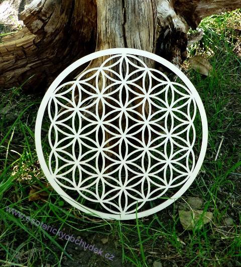 11e482330 Květ života - dřevěný symbol (topol) 20 cm | Esoterický obchůdek Radost